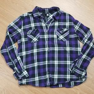 5/$25 OP Purple long sleeve button down size L